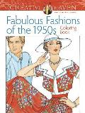 Creative Haven: Fabulous Fashions of the 1950s Adult Coloring Book