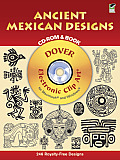Ancient Mexican Designs Cd Rom & Book