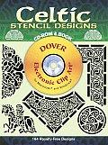 Celtic Stencil Designs Cd Rom & Book