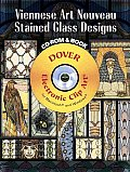 Viennese Art Nouveau Stained Glass Designs With CDROM