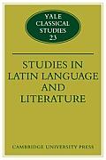 Studies in Latin Language and Literature
