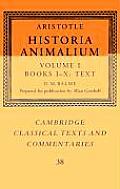 Aristotle: 'historia Animalium'