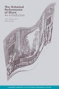 The Historical Performance of Music: An Introduction