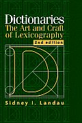 Dictionaries The Art & Craft of Lexicography