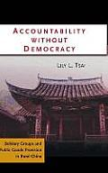 Accountability Without Democracy: Solidary Groups and Public Goods Provision in Rural China