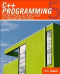 C++ Programming From Problem Analysis to Program Design 5th Edition