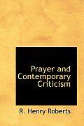 Prayer and Contemporary Criticism