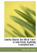 Tabella Cibaria the Bill of Fare: A Latin Poem, Implicitly Translated and ... (Large Print Edition)