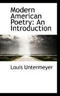 Modern American Poetry: An Introduction