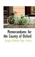 Memorandums for the County of Oxford