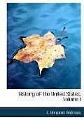 History of the United States, Volume I