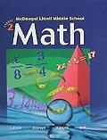 McDougal Littell Middle School Math: Preparation for MS Math (Student) Book 2