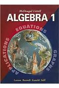 McDougal Littell Algebra 1: Notetaking Guide (Student)