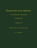 Ramesside Inscriptions, Ramesses II, His Contempories: Translated and Annotated, Translations