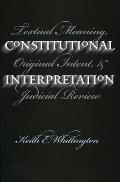 Constitutional Interpretation
