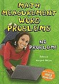 Math Measurement Word Problems: No Problem!