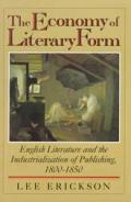 Economy Of Literary Form English L