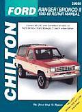 Ford Ranger Bronco II Repair Manual 1983 1990