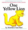 One Yellow Lion Fold Out Fun With Number