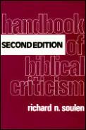 Handbook Of Biblical Criticism 2nd Edition