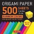 Origami Paper 500 sheets Rainbow Colors 4 10 cm Tuttle Origami Paper High Quality Double Sided Origami Sheets Printed with 12 Different Color Combinations