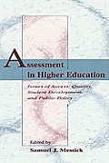 Assessment in Higher Education: Issues of Access, Quality, Student Development and Public Policy
