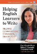 Helping English Learners To Write Meeting Common Core Standards