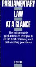 Parliamentary Law At A Glance Based On