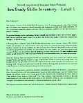 Inventory: Level I: Hm Learning & Study Skills