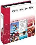 Sports Rules on File (Facts on File Reference Library)