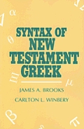 Syntax Of New Testament Greek