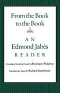 From The Book To The Book An Edmond Jabe