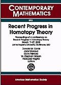Recent progress in homotopy theory; proceedings