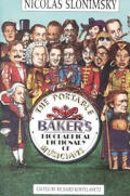 Portable Bakers Biographical Dictionary Of Mus