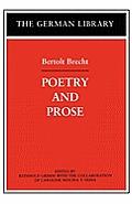 Poetry and Prose: Bertolt Brecht