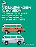 Volkswagen Vanagon Official Factory Repair Manual 1980 1981 1982 1983 1984 1985 1986 1987 1988 1989 1990 1991 Including Diesel Syncro a