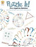 Puzzle It Pre Algebra Puzzles