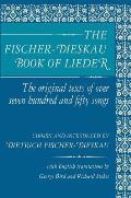 Fischer Dieskau Book of Lieder The Original Texts of Over Seven Hundred & Fifty Songs