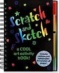 Scratch & Sketch A Cool Art Activity Book With Scratch Off Stick