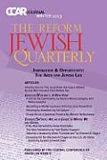 Judaism & the Arts: Ccar Journal, Winter 2013