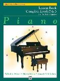 Alfreds Basic Piano Course Lesson Book Complete Levels 2 & 3 For The Later Beginner