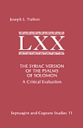 The Syriac Version of the Psalms of Solomon: A Critical Evaluation