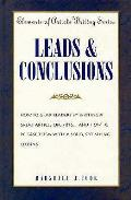 Leads & Conclusions