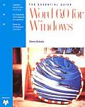 The Essential Guide, Word 6.0 for Windows
