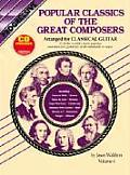 Popular Classics Volume 4 Book & CD Arranged for Classical Guitar
