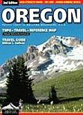 Oregon Topo Travel Reference Map Travel Guide