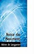 Notice Des Monuments