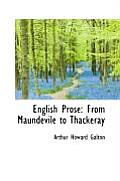 English Prose: From Maundevile to Thackeray