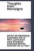 Thoughts from Montaigne