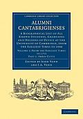 Alumni Cantabrigienses - Volume 1